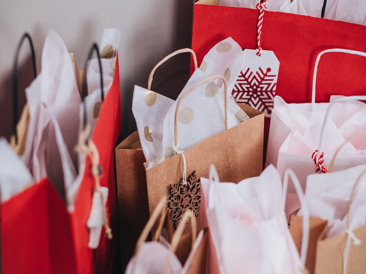 buste shopping natale
