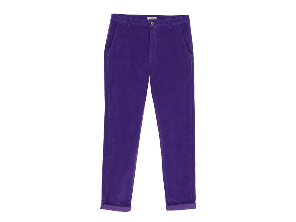 dixie-pantaloni-taglio-chino-in-velluto-viola