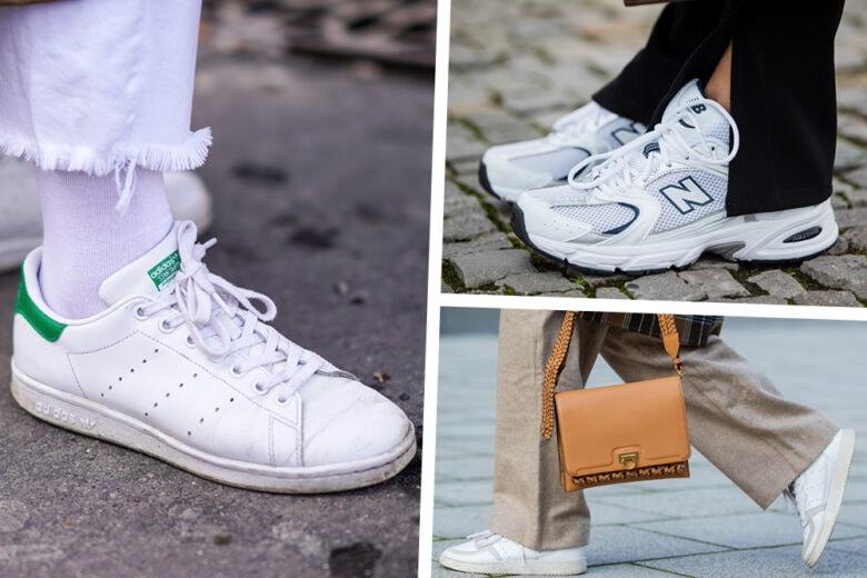 Sneakers bianche: i modelli che ci faranno battere il cuore questa Primavera