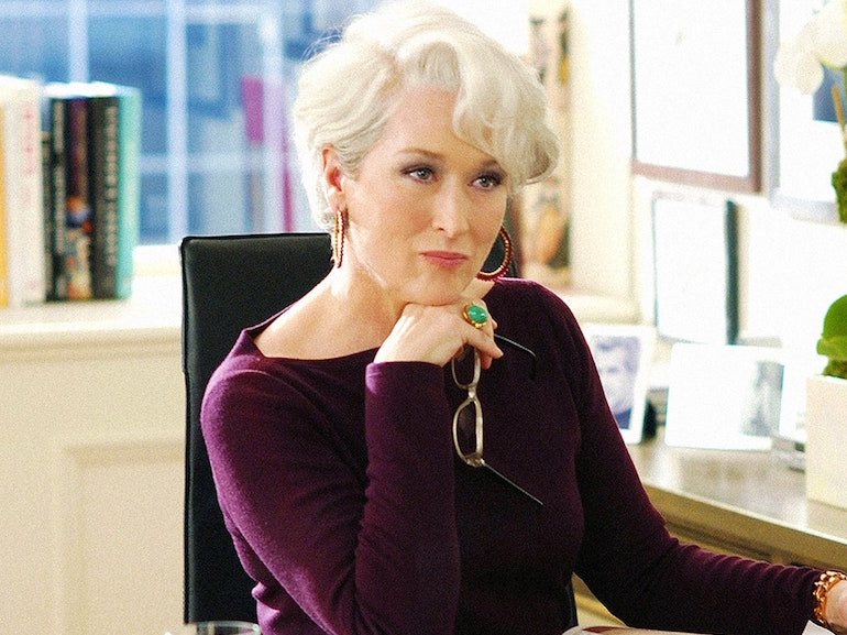 Maryl Streep maglietta viola