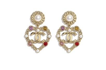 orecchini con perle e strass CHANEL