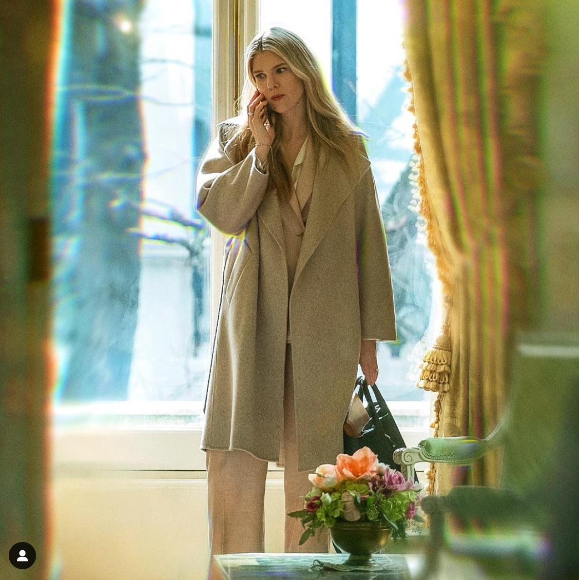 the undoing beige coat