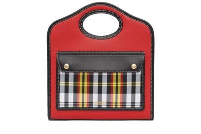 Borsa-Pocket-mini-in-pelle-bicolore-e-con-motivo-tartan-BURBERRY