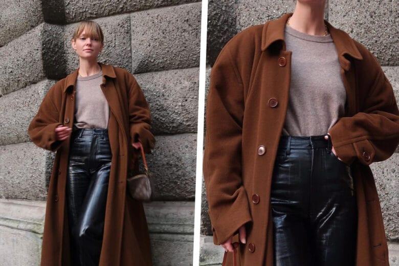 Come abbinare i pantaloni effetto pelle? Ce lo insegna Jeanette Madsen!