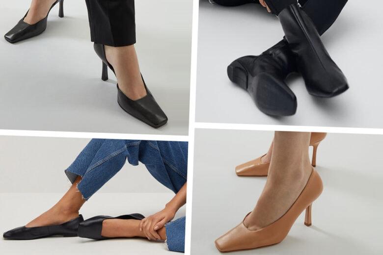 Scarpe a punta quadrata: sono loro la nuova ossessione di stagione