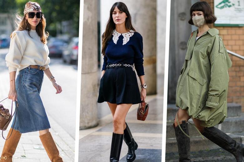 Stivali alti: con tacco o flat, sono l'accessorio top anche in primavera!