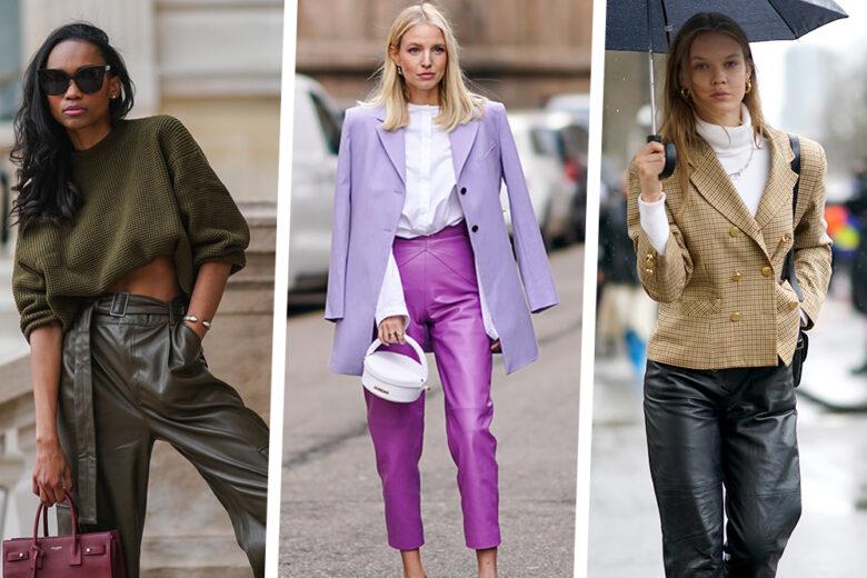 5 outfit con i pantaloni in pelle (o in similpelle) che vi sorprenderanno