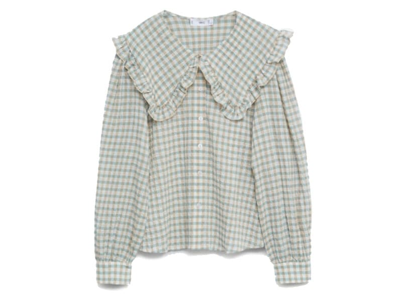 Camicia-in-cotone-con-colletto-babydoll,-Mango