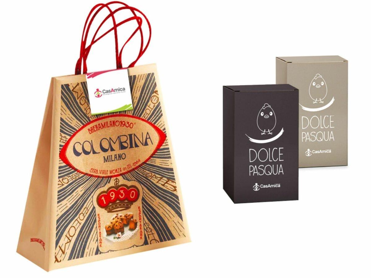 Casamica Onlus Colomba solidale Colombe e uova pasqua artigianali delivery