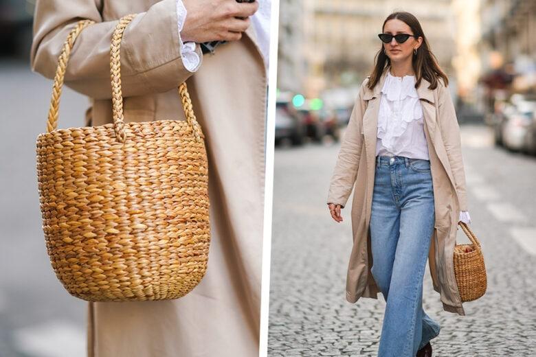 Trench beige, camicia con volant e jeans flare: il look di Marielle Haon per noi è un grande sì!