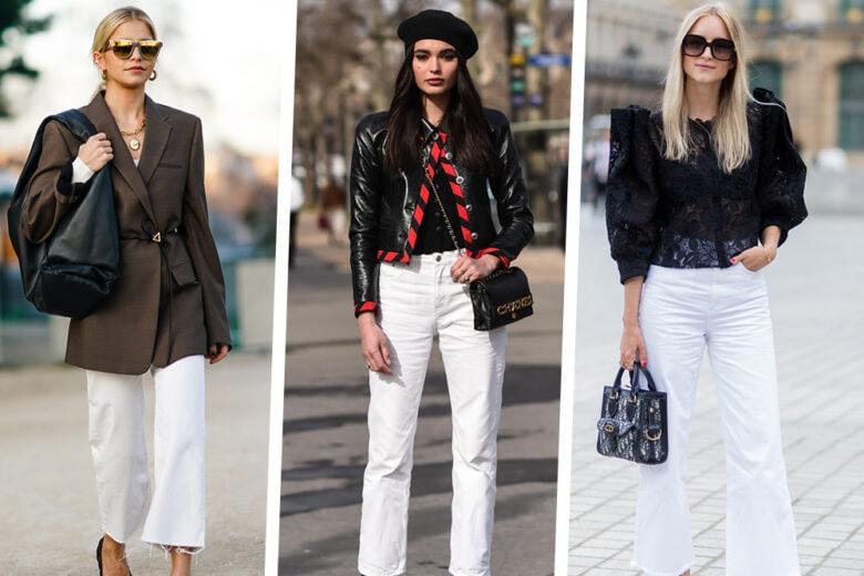 4 modi facili e cool per indossare i jeans bianchi in primavera