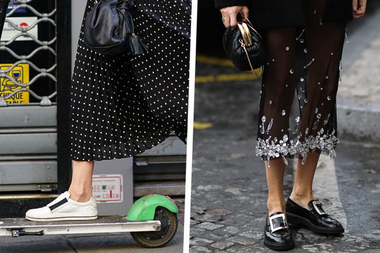 Gonne + scarpe basse: 5 idee su come indossare la combo più fashion del momento
