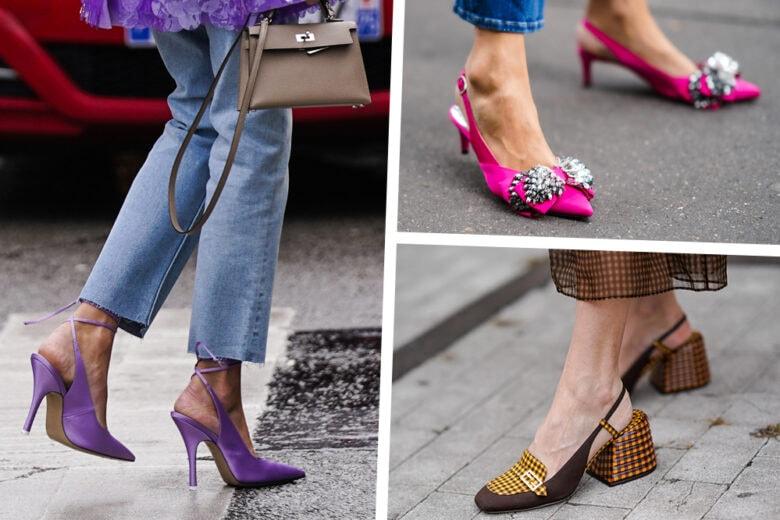 """Le scarpe """"slingback"""" ci piacciono ogni stagione di più: ecco le varianti più belle della primavera!"""