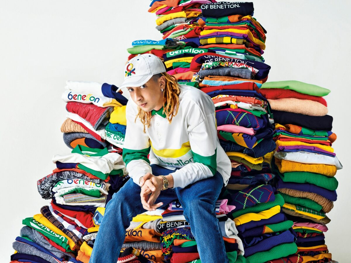 Ghali per Benetton