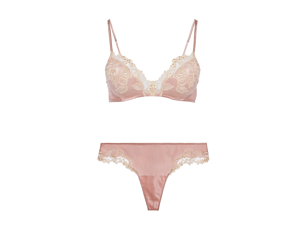 La-Perla-'MAISON'-Powder-pink-silk-satin-thong-with-frastaglio-embroidery