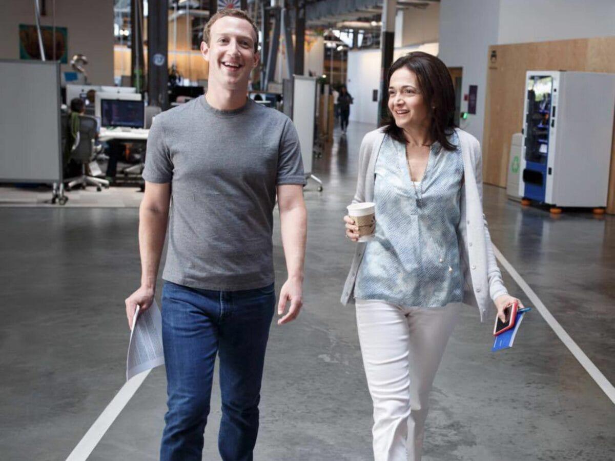 Sheryl Sandberg e Zuckemberg