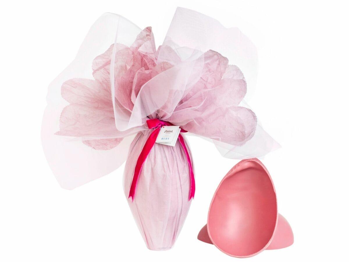 Uovo Ruby Zaini Milano Colombe e uova pasqua artigianali delivery