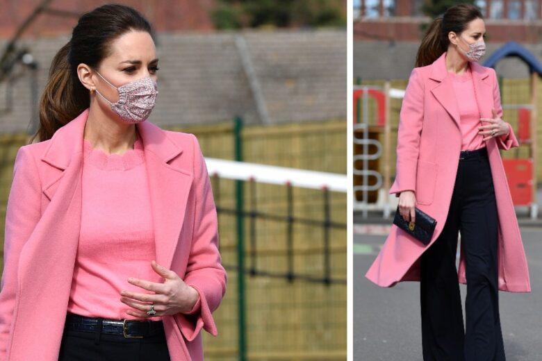 Kate Middleton e quel cappotto rosa che ci fa venire voglia di Primavera