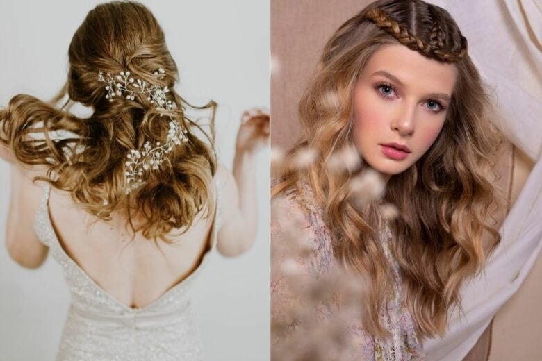 Acconciature sposa primavera estate 2021: dal semiraccolto alla coda fino all'hair look con accessori