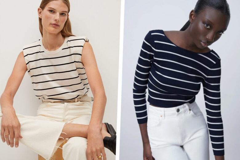 Passione maglia a righe: questi 12 modelli costano meno di cinquanta euro!