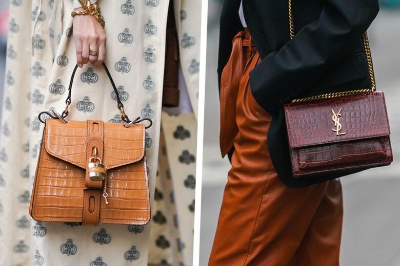 """""""Croc print bags"""": le borse stampa cocco continuano a essere un trend, anche in primavera!"""
