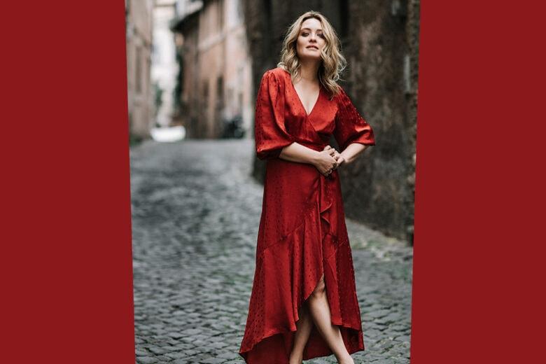 Carolina Crescentini indossa uno degli abiti più chic di stagione (è di MAX&Co. e noi l'abbiamo già aggiunto in wish list!)