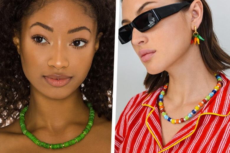 #tornarebambine: le collane con perline e pietre colorate  sono il trend più funny della primavera!