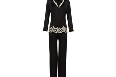 La-Perla-'MAISON'-Black-silk-pyjamas-with-ivory-frastaglio-embroidery