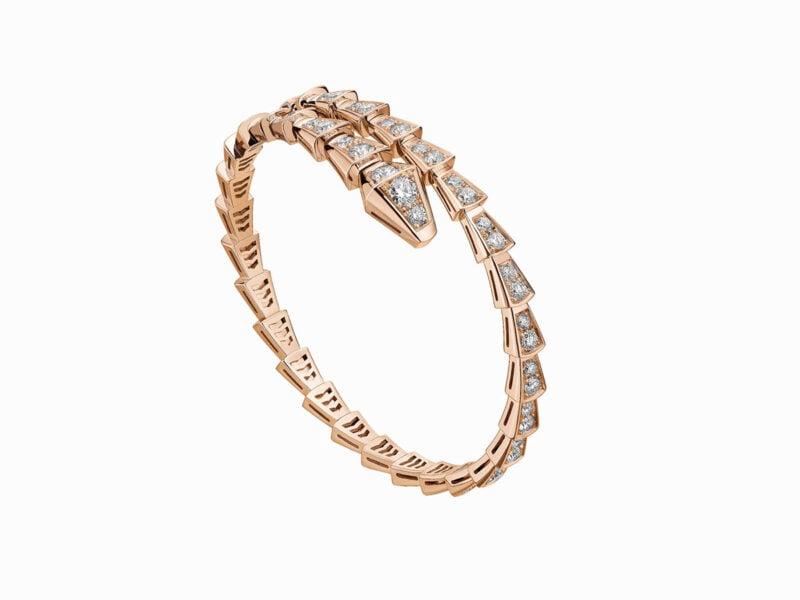 Bracciale Serpenti Viper oro rosa e diamanti2