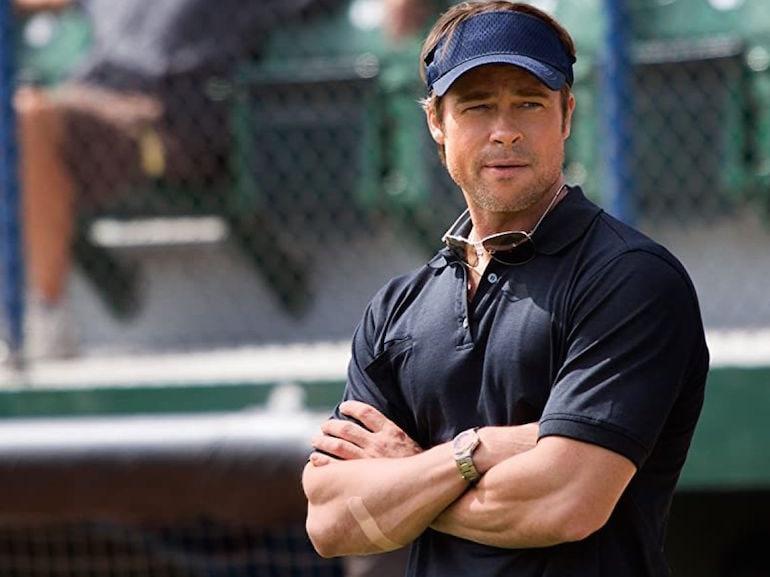 Brad Pitt polo blu