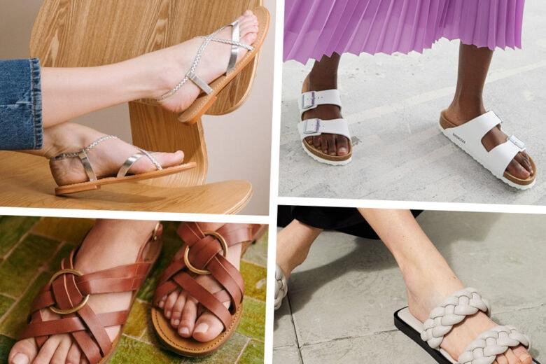 Non solo tanto comfort: con questi sandali bassi anche il glamour è assicurato!