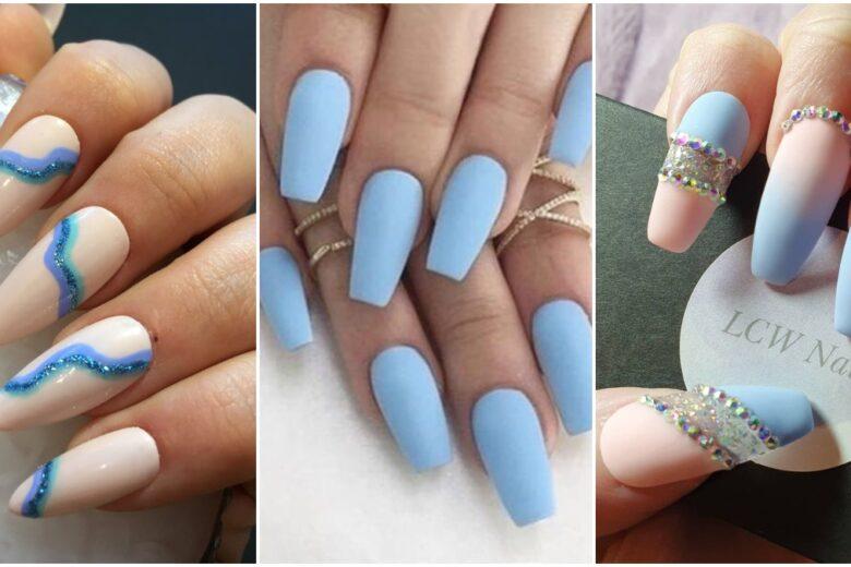 Unghie indaco: le nail art azzurro polvere da provare adesso