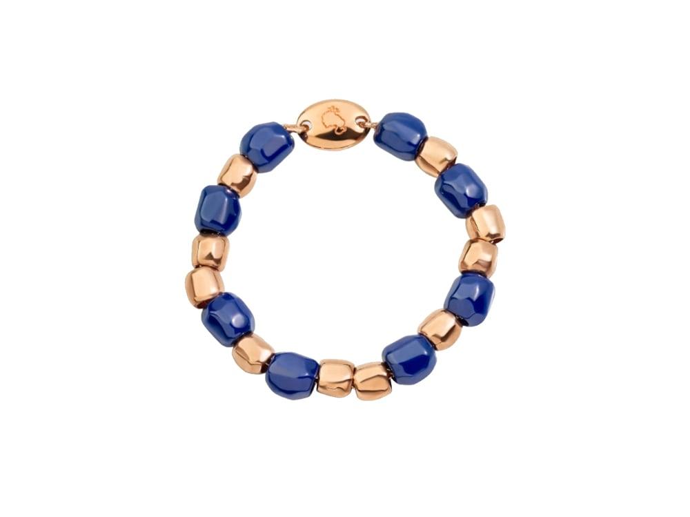 anello-dodo-collezione-granelli-in-oro-rosa-e-ceramica-blu