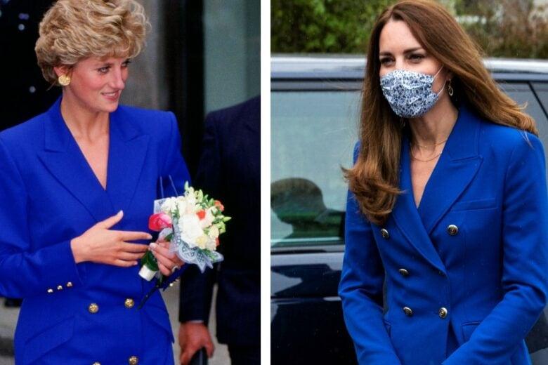 Kate Middleton come Lady Diana: l'outfit royal blu è identico!