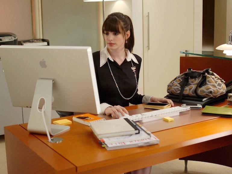 Anne Hathaway vestito nero