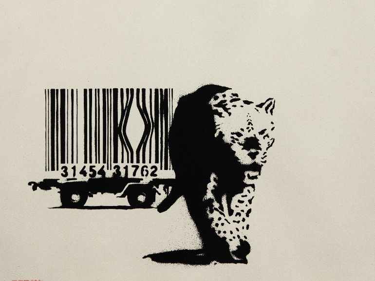Barcode 2004 serigrafia su carta screenprint on paper Artrust