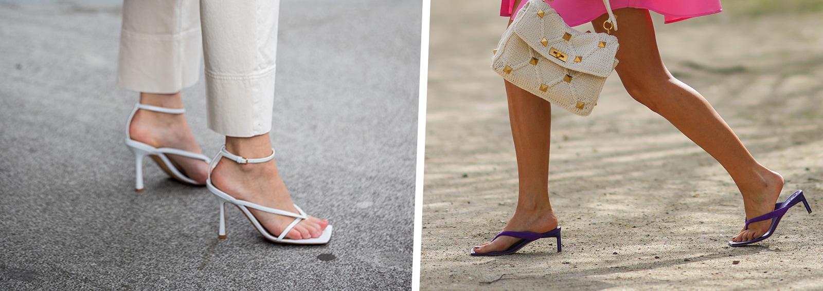 infradito con tacco tendenze moda