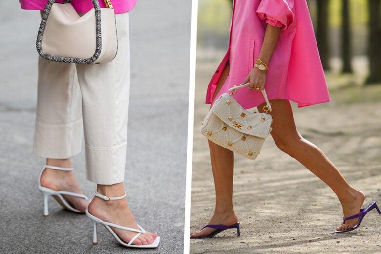 I sandali infradito con tacco hanno proprio una marcia in più: ecco i modelli must have!