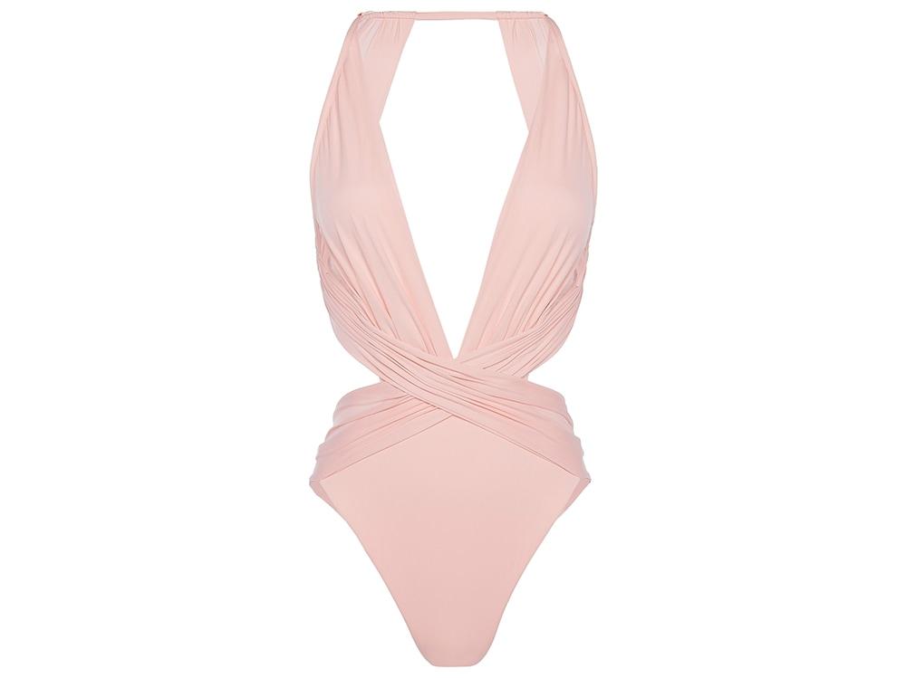 La-Perla-'STARGAZE'-Halterneck-swimsuit-in-rose-pink