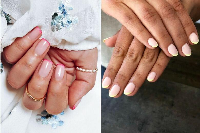 Neon French Manicure: le unghie colorate per l'estate