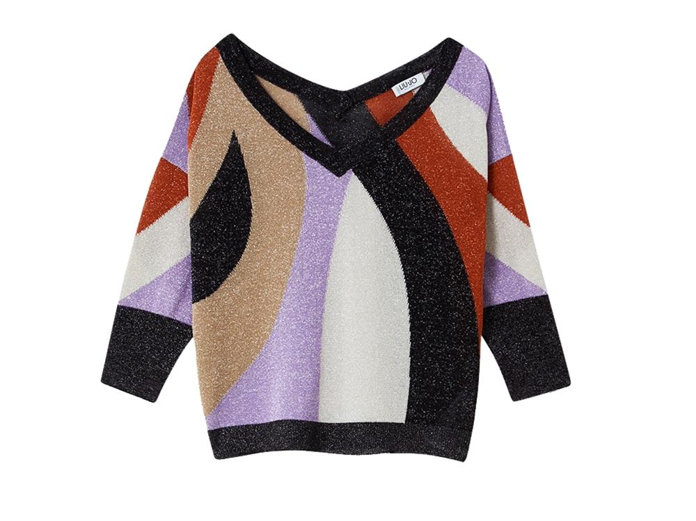 liu-jo-maglia-in-lurex-con-disegni-geometrici-multicolor