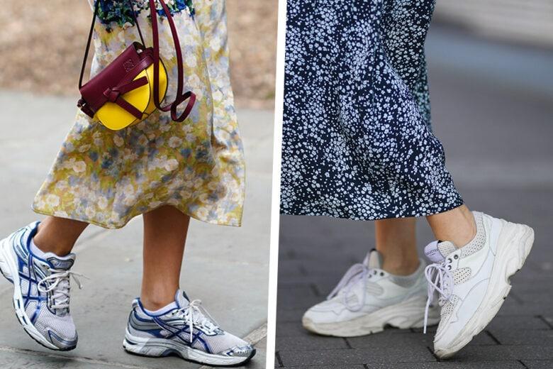 Gonne + sneakers: 5 abbinamenti comodi e stilosi da copiare al volo quest'estate