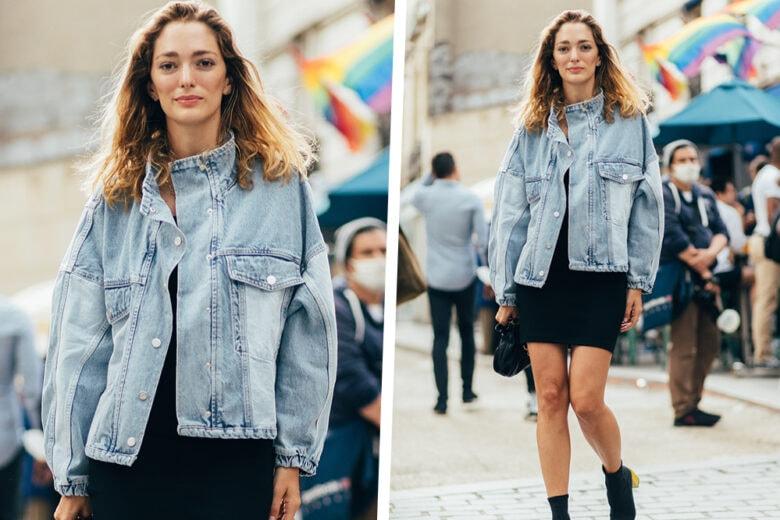 Quello di Sofia Sanchez de Betak è il perfetto look da rientro in città