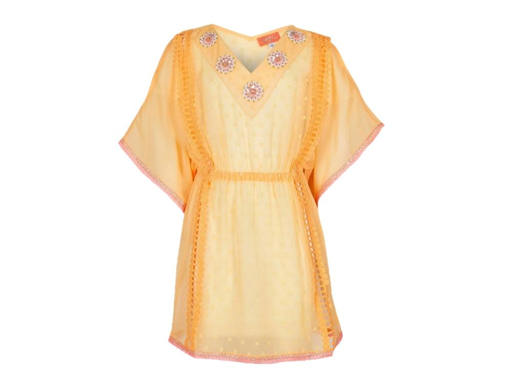 RIVER-ISLAND-SU-ZALANDO-vestito-arancione-con-decorazioni-in-cristalli-e-paillettes