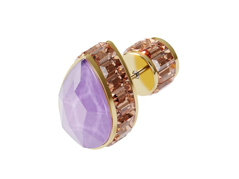 Swarowski_orecchino-a-lobo-orbita–singolo–cristallo-taglio-drop—multicolore–placcato-color-oro