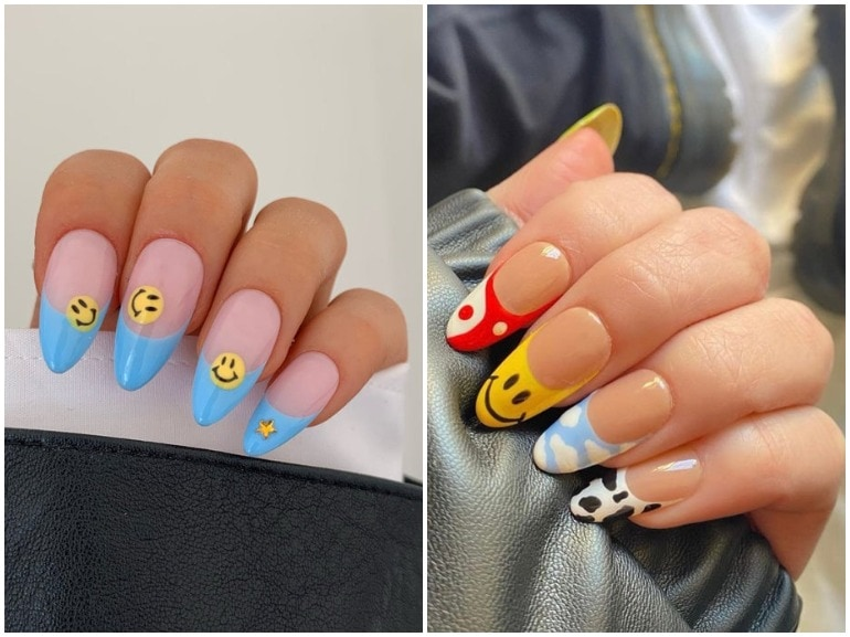 unghie smile manicure nail art cover mobile