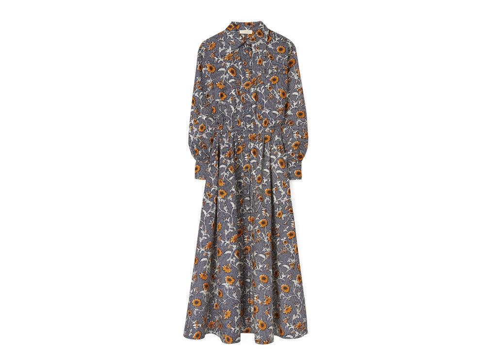 tory-burch Eleanor Silk Twill Dress 86253 in Retro Block Batik