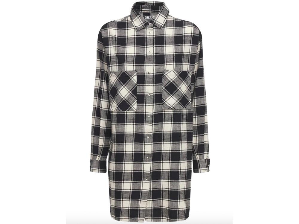 Camicia oversized in flanella_Diesel