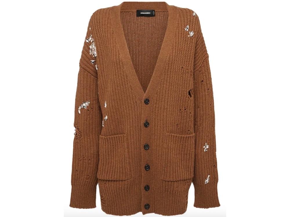 Cardigan in maglia di lana_Dsquared2