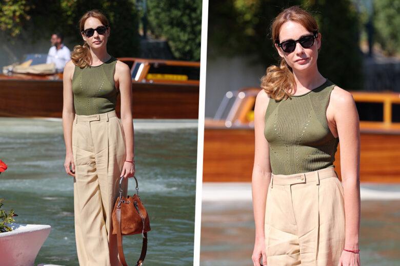 Quello di Cristiana Capotondi è l'esempio perfetto di look easy-chic (da copiare, of course!)